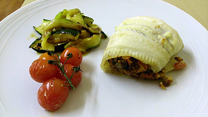 Baked plaice stuffed with aubergine basil and tomato from channel plaice rolls 4 forumfinder Image collections