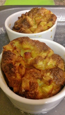 Orange brioche puddings 1