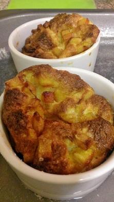 Orange brioche puddings 1
