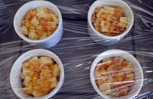 Orange brioche puddings 3